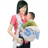 CHINTAKA Gendongan Samping + Saku Kerut Print Bebek [CBG 630100B] - Blue - Carrier and Sling